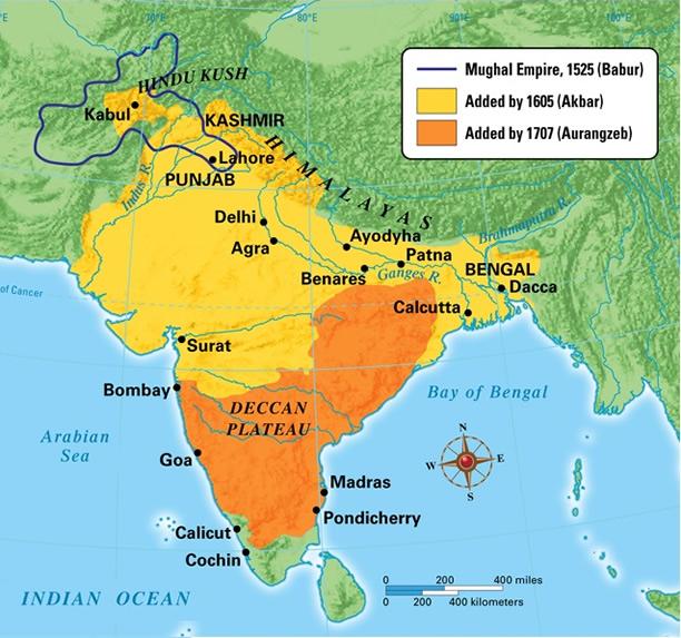 Mughal map