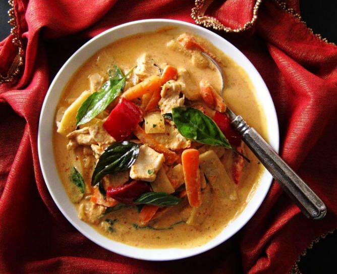 INSTANT POT THAI RED CURRY WITH CHICKEN #dinner #yummy