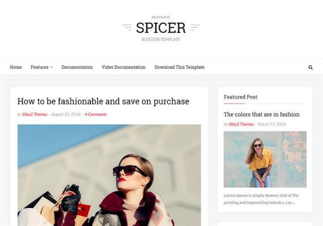 Spicer Blogger Theme