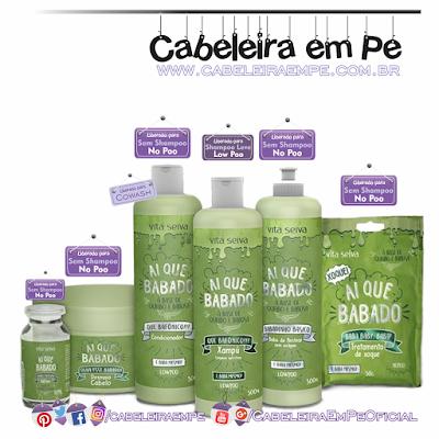 Linha Ai que Babado Vita Seiva (Shampoo liberad para Low Poo - Máscara, Aditivo, condicionador, creme para pentear e sachê liberados oara no Poo)
