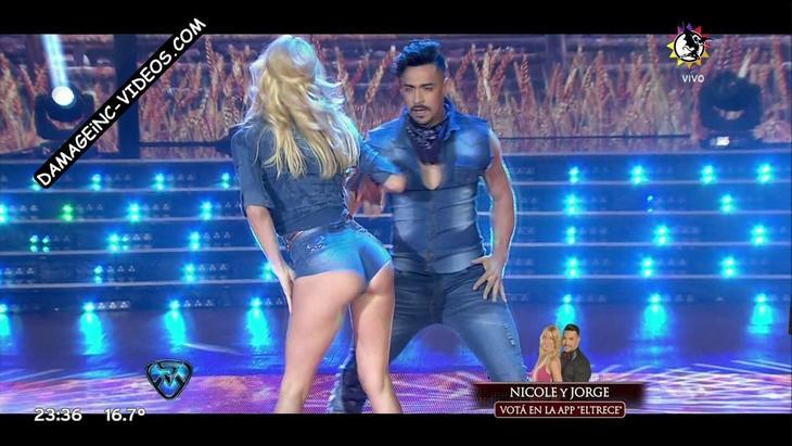 Nicole Neumann hot ass in jean shorts Damageinc Videos HD