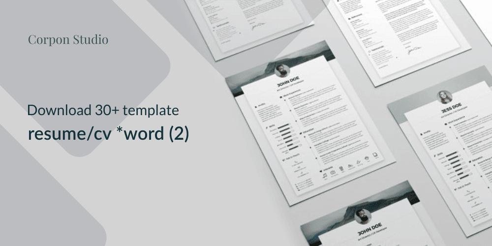 Download 30+ Template Resume (CV) Terbaru 2017 Format Word (Bagian 2)