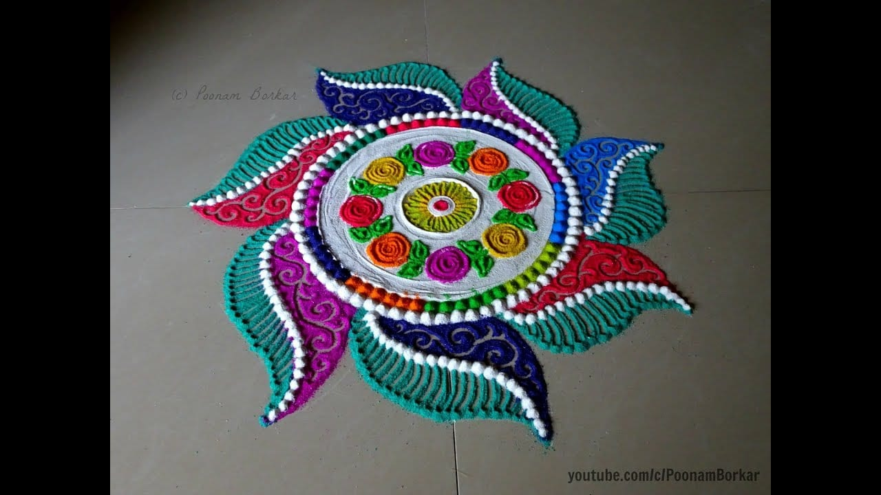 Happy New Year Best Rangoli 54