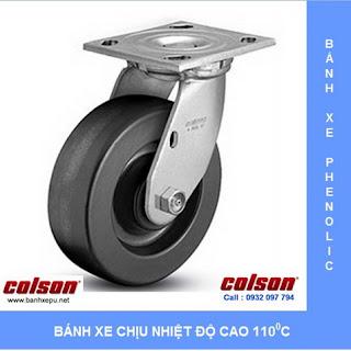 Bánh xe đẩy chịu nhiệt Phenolic tải trọng nặng (270~550kg) www.banhxepu.net
