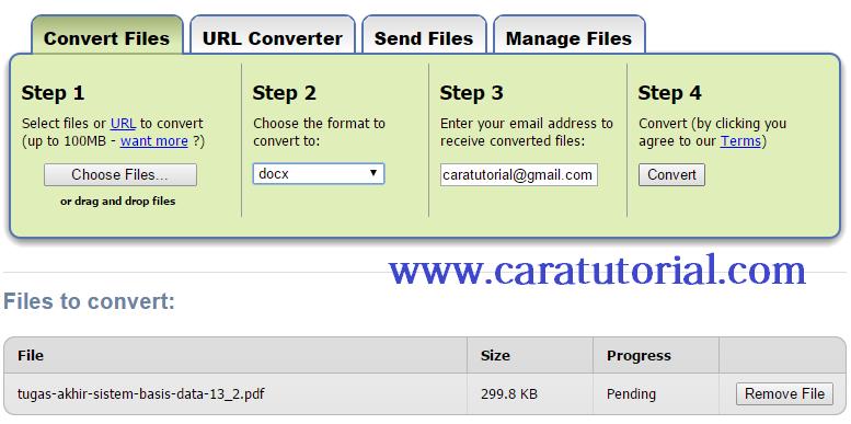 Merubah File PDF ke Word / Excel / JPG dengan Mudah
