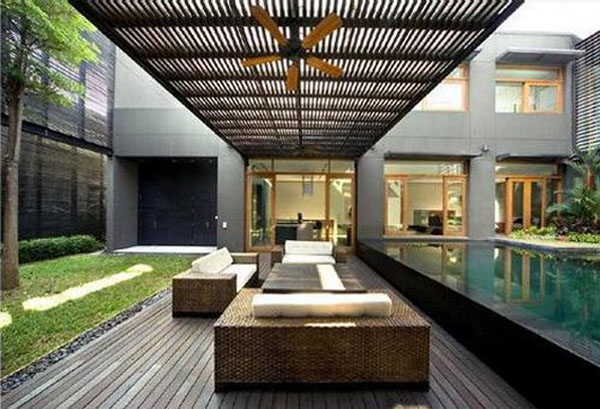 Minimalist Garden Living Room Design Ideas