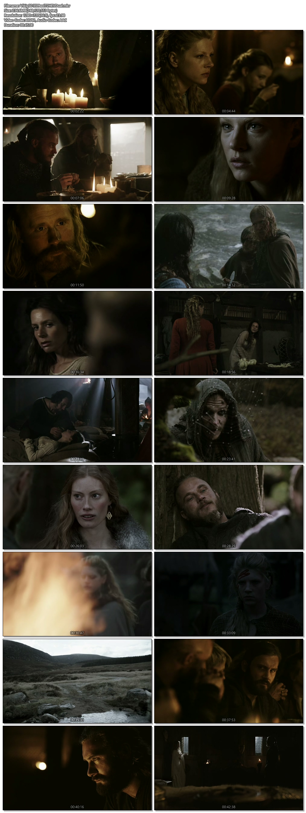 Screenshots Of Hindi Dubbed Show Vikings 2013 Season 01 Complete All Episodes 300MB 720P HD
