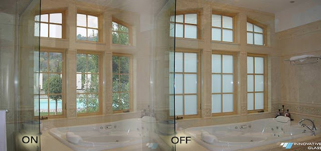 Electric Privacy Glass for a Bathroom