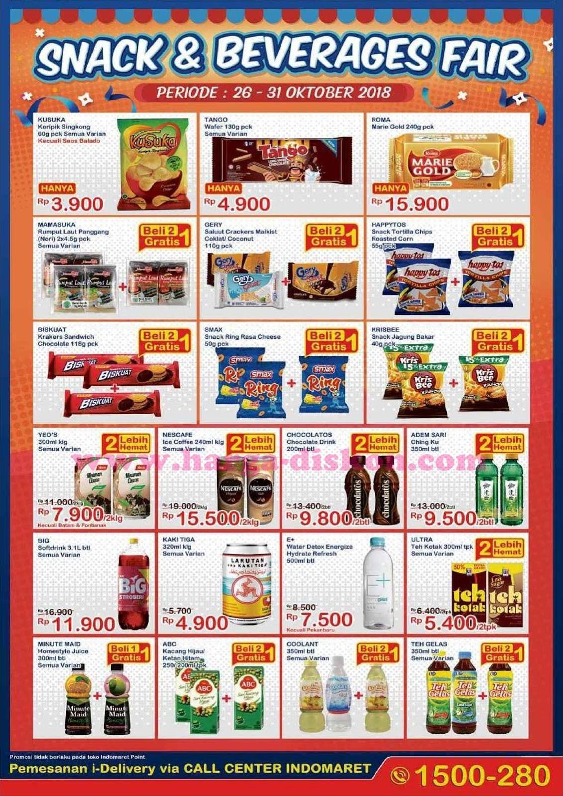 Katalog Promo Indomaret Snack Beverages Fair Periode 26 31 Oktober 2018 Inilahpromo Com