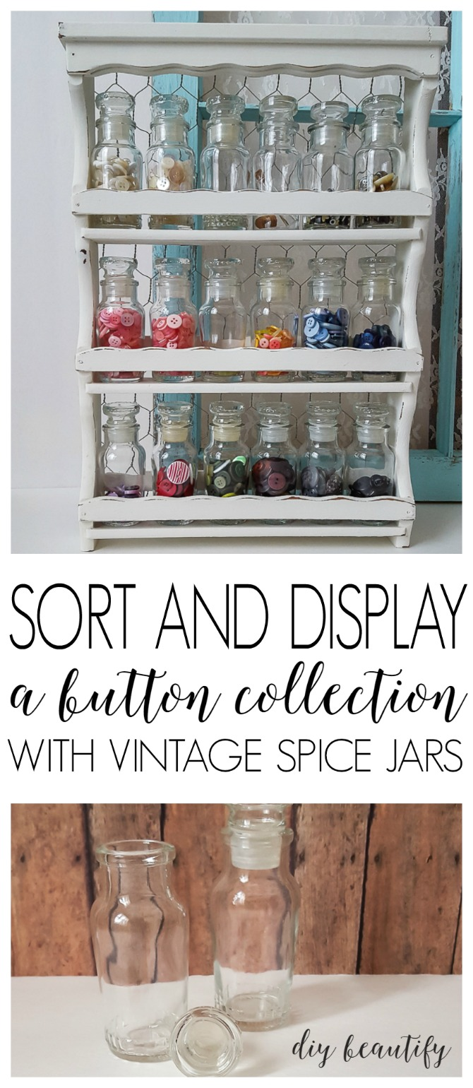 spice rack for button storage