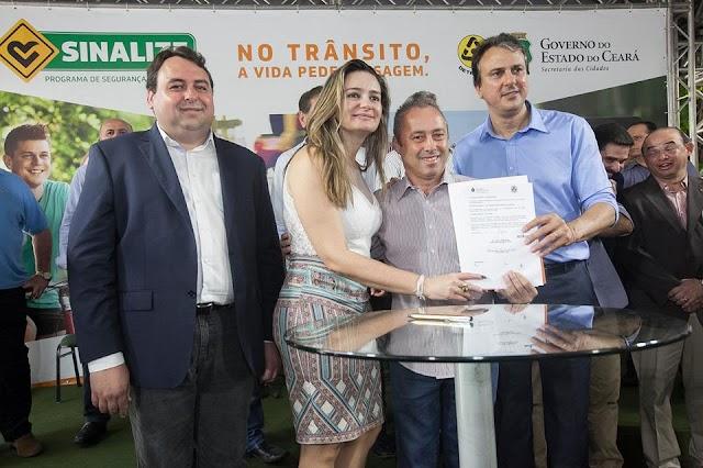 Camilo Santana libera R$ 120 milhões para melhorar segurança no trânsito no Ceará