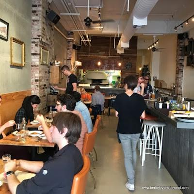 interior at Lucia's Pizzeria in Berkeley, California