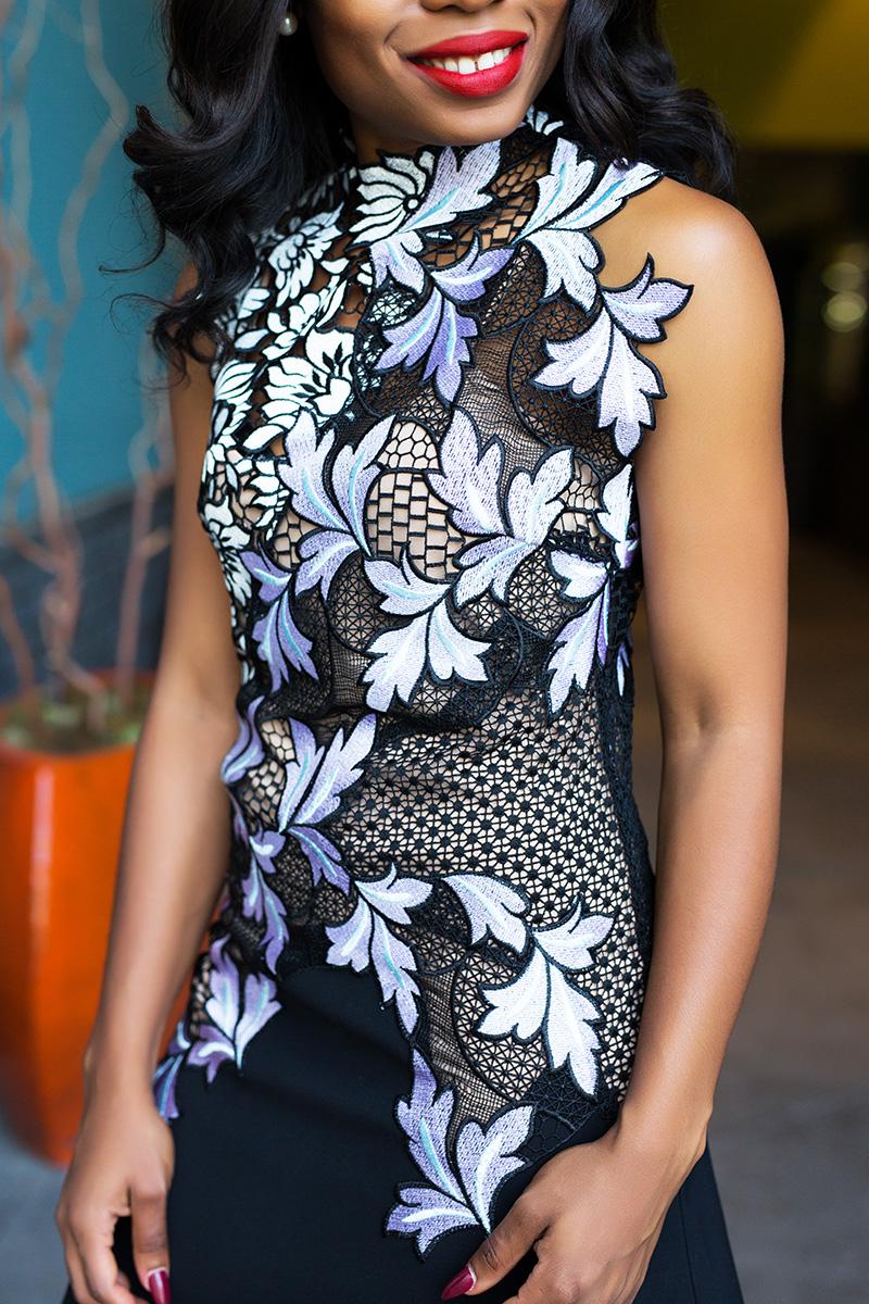 Intricate lace dress, www.jadore-fashion.com