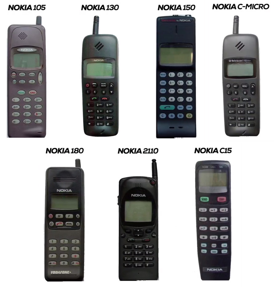 Nokia mobiles in the year 1993
