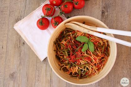"""""""Pasta coi fagiolini """" - pâtes aux haricots verts: recette vegan facile et rapide"""
