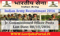 Indian Army Recruitment 2016 For Jr. Commissioned Officer (Religious Teacher) Posts Apply Online Here