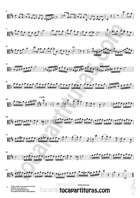 2 Viola Partitura de Czardas Sheet Music for Viola Music Score