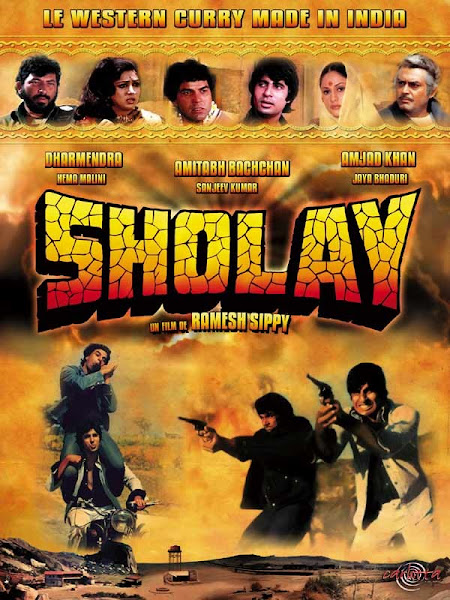 Poster of Sholay 1975 Hindi 720p HDRip Full Movie Download
