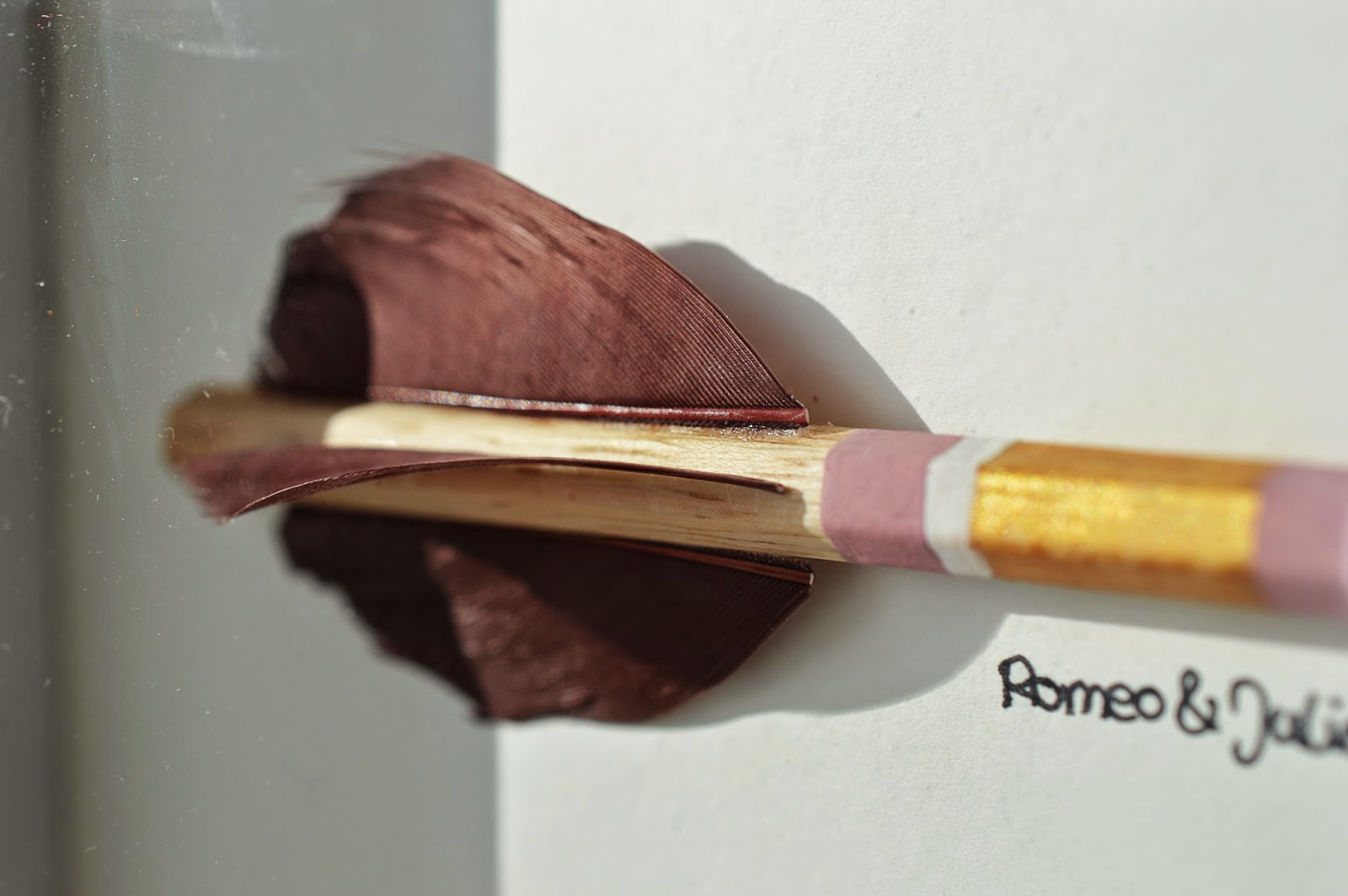 Cupid's Greatest Achievements | DIY Pencil Arrows Display | Motte's Blog
