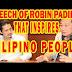 Watch: Robin Padilla Speech That Makes you a Proud Filipino People