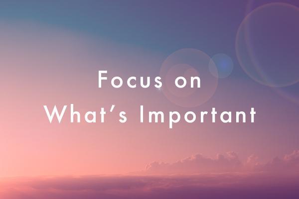 fokus hal yang perlu