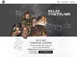 Event Website Point Blank Garena Kuis Kelas PB