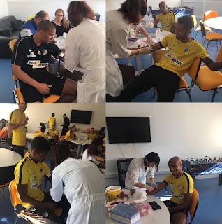 Από αιματολογικές εξετάσεις πέρασαν οι ποδοσφαιριστές μας