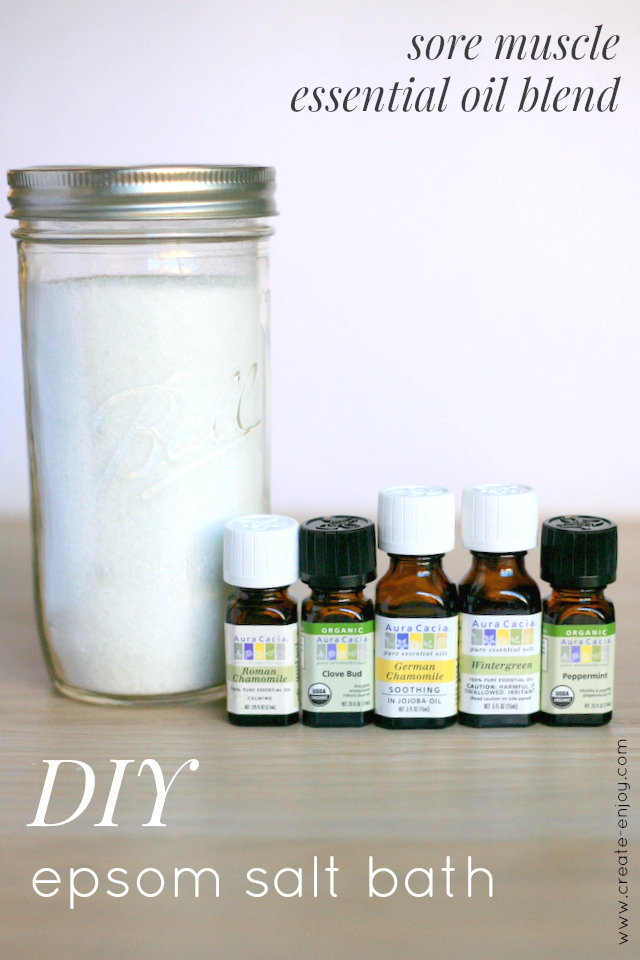DIY essential oil bath salts for sore muscles / Create / Enjoy