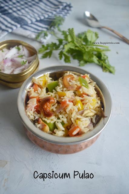 Capsicum Pulao Recipe | Capsicum Rice