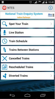 Live National Train Enquiry System Mobile Application Download for Android
