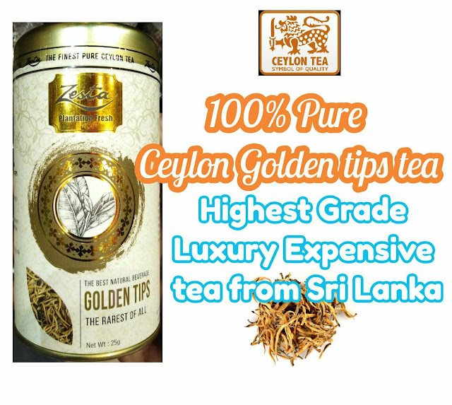 silver tips& golden tips pure Ceylon handmade gold tea sun dried extremely rare 2 in 1 pack