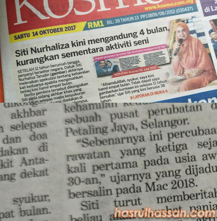Datuk Siti Sah Hamil 4 Bulan