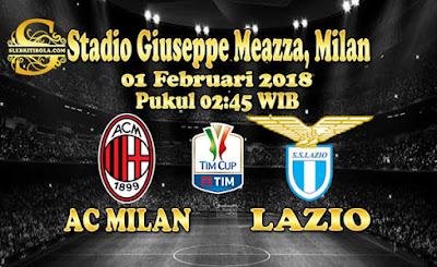 AGEN BOLA ONLINE TERBESAR - PREDIKSI SKOR COPPA ITALIA AC MILAN VS LAZIO 01 FEBRUARI 2018