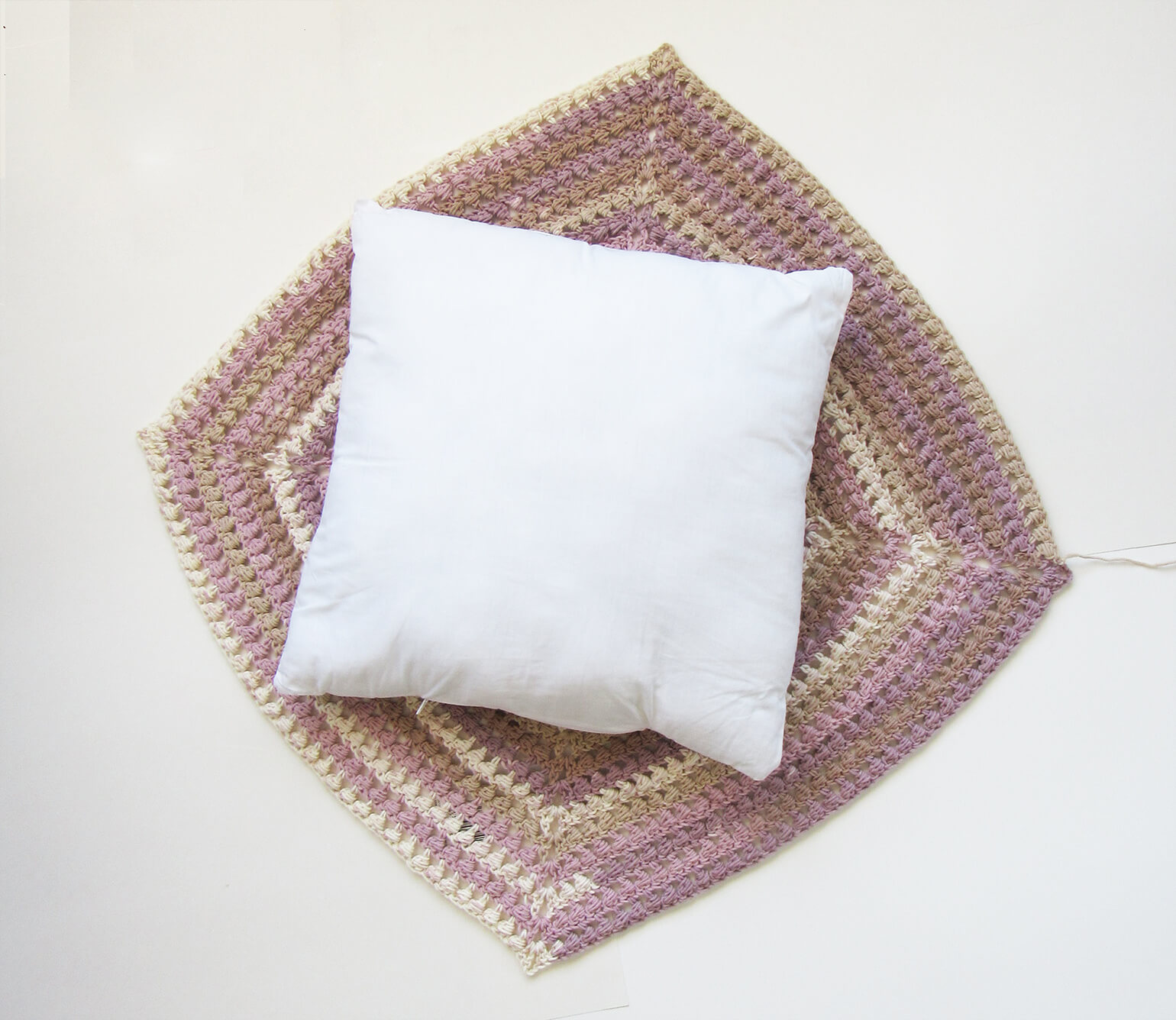 Stained Glass Pillow Cover Free Granny Square Crochet Pattern