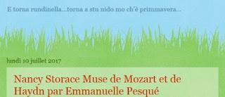 Nancy Storace, Muse de Mozart et de Haydn, par Emmanuelle Pesqué