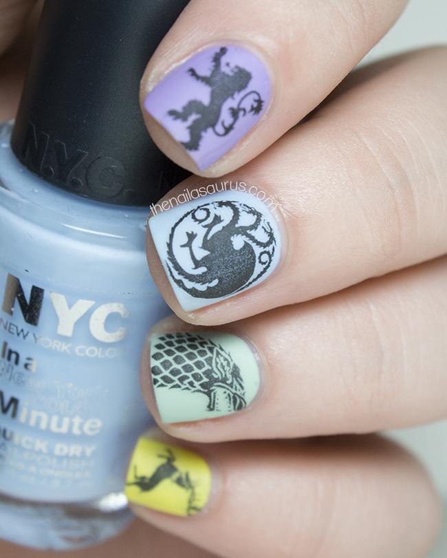 Nail Art Game: Game Of Girly Thrones - The Nailasaurus