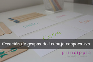 Creación grupos de trabajo cooperativo