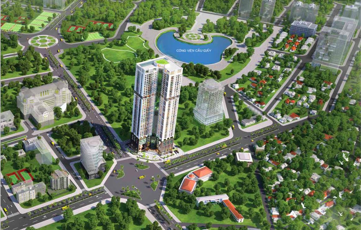 Phối cảnh chung cư Golden Park Tower