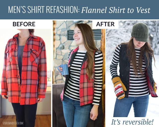 Men's Flannel Shirt Refashion
