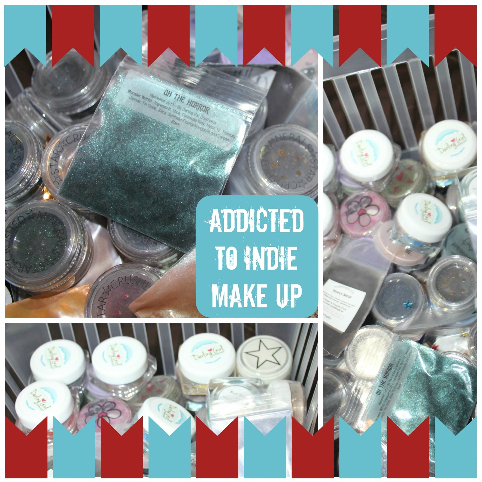 My stash of indie make up