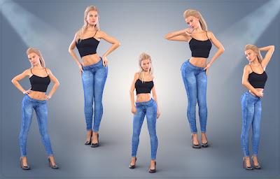 Z Photoshoot - Poses for Genesis 3 Female