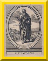 Saint Polycarp of Smyrna engraving