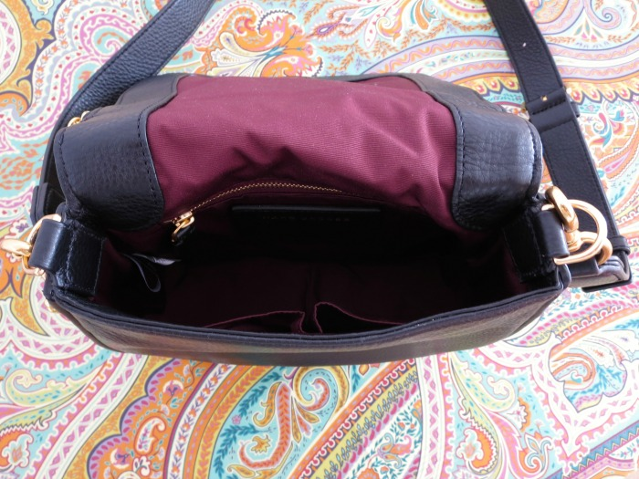 Recruit Black Leather Small Saddle Bag