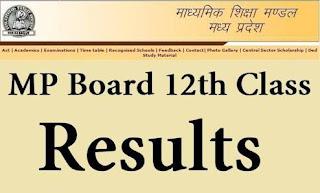 MP Board class 12th result date 2018