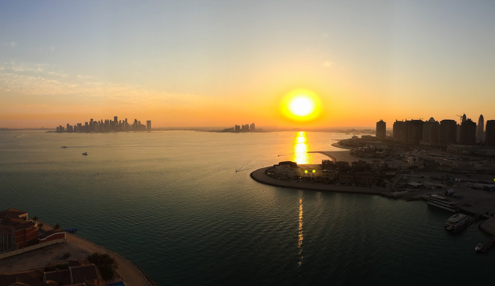 Visiting Qatar: Sunset City View