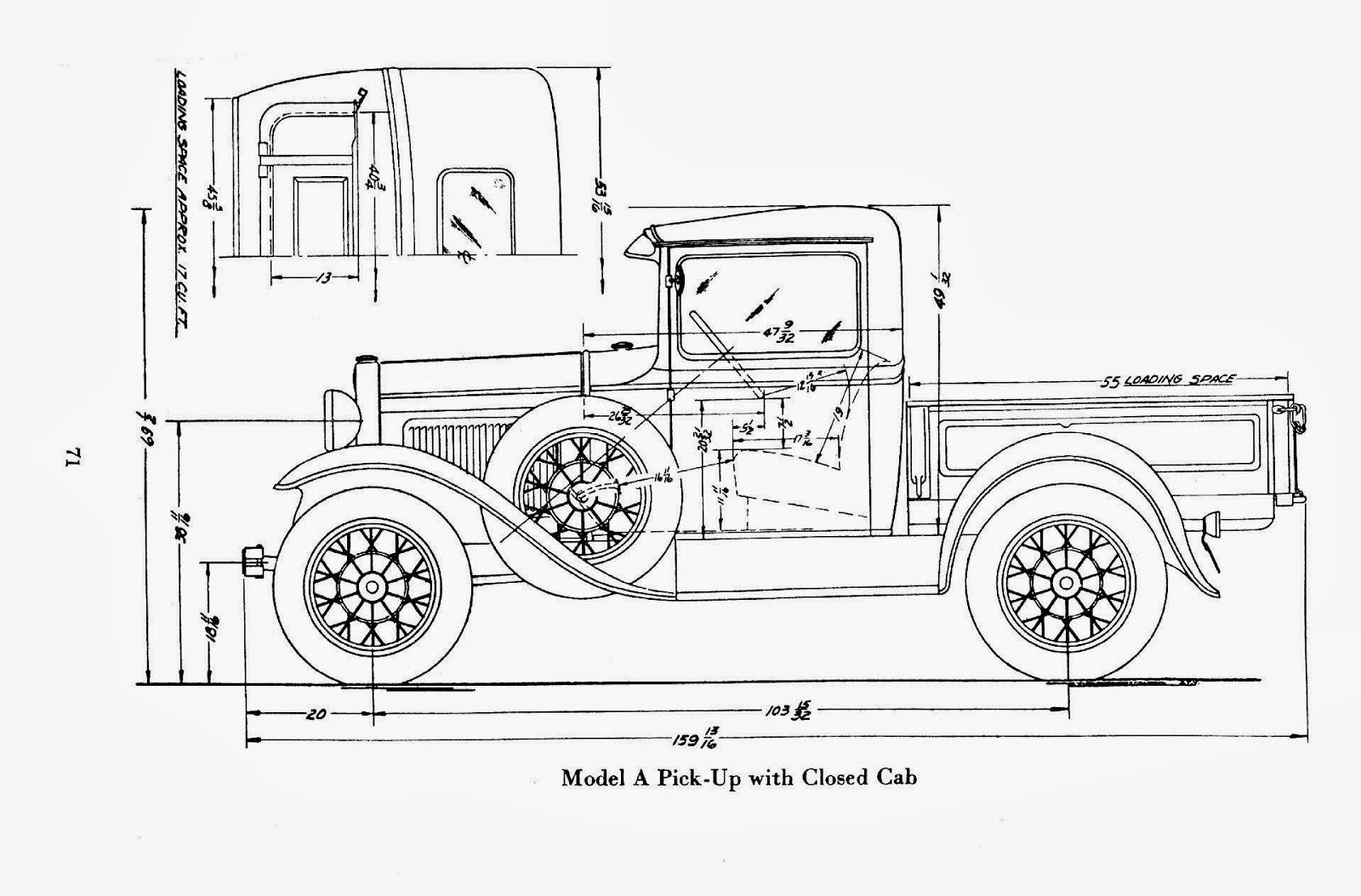 1929 model a pick up bedradings schema