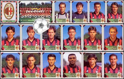 Figurine Panini calciatori milan 1993/94