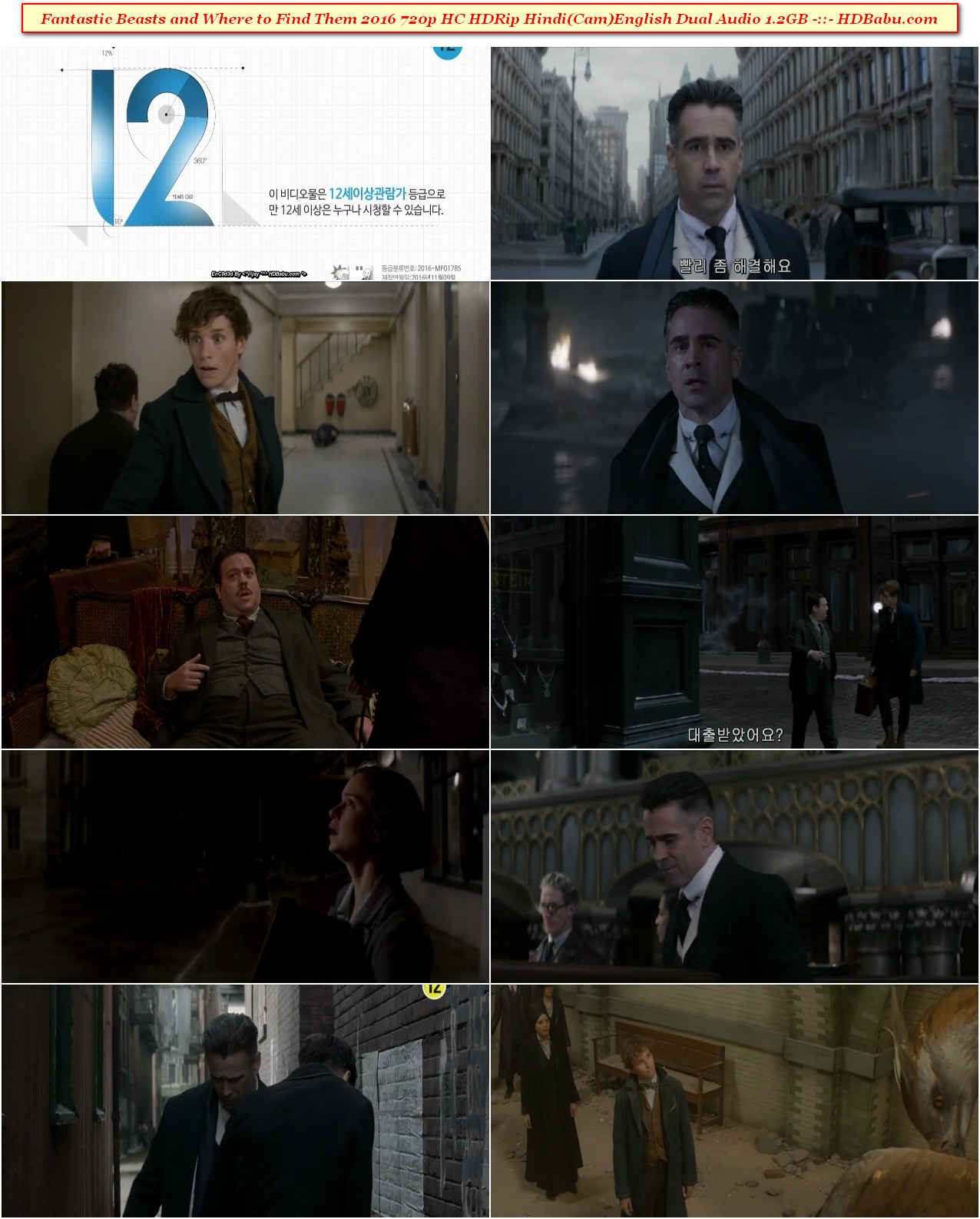 Fantastic Beasts and Where to Find Them Hindi Dual Audio Full Movie Download