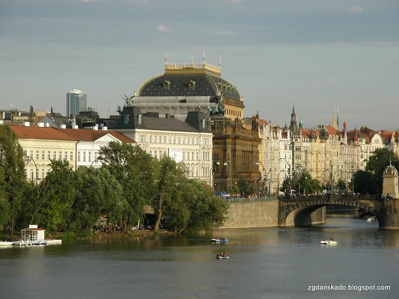 Praga - Widok z Mostu Karola