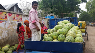 Korail Basti - water mellon vendor